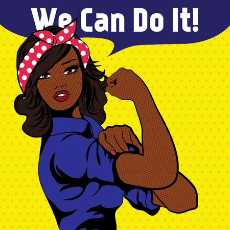 black empowerment: We Can Do It, an iconic womans fist symbol