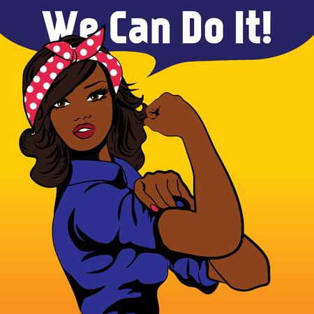 We Can Do It, an iconic womans fist symbol