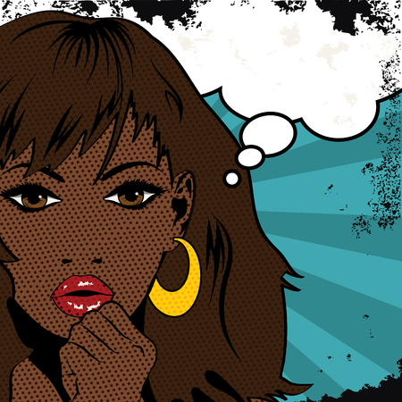 black woman: Pop Art Black Woman Illustration
