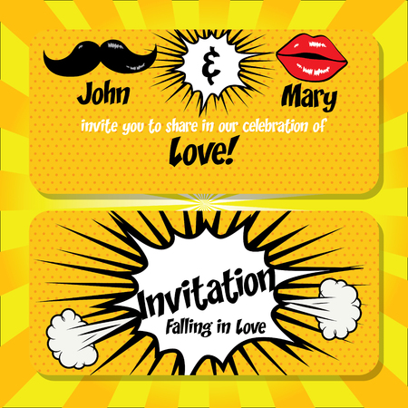 married: Wedding card template