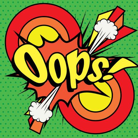 Pop Art comics icône Oops!