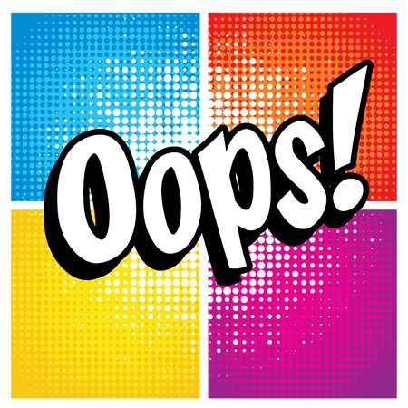 oops: Pop Art comics icon Oops! Illustration