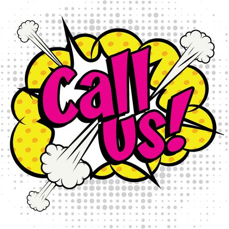 call us: Pop Art comics icon Call Us!