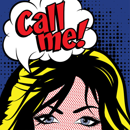 call me: Pop Art Woman - Call me!