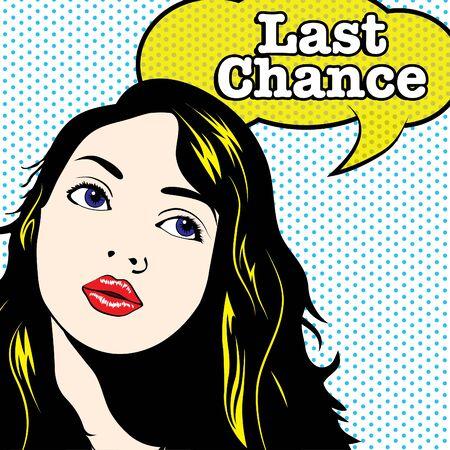 last chance: Pop Art Woman - Last Chance