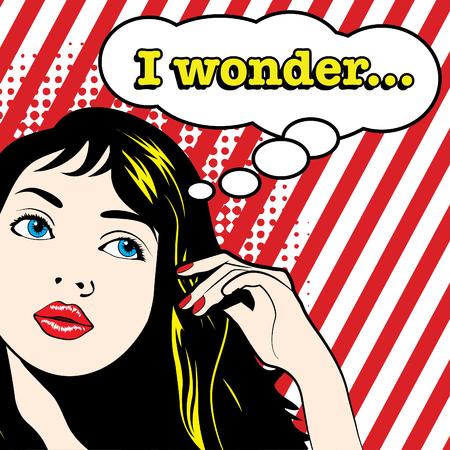 wonder: Pop Art Woman - I Wonder Illustration