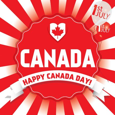first day: Happy Canada Day first of July