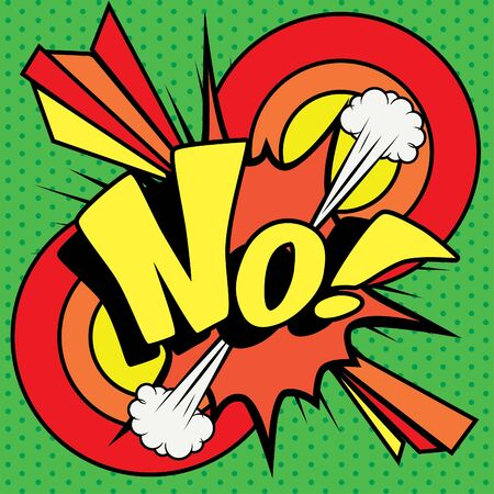 disagree: Pop Art comics icon No! Illustration