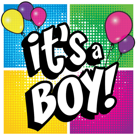Pop Art comics icon Its a boy!