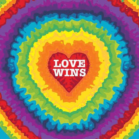 LOVE WINS  illustration  イラスト・ベクター素材