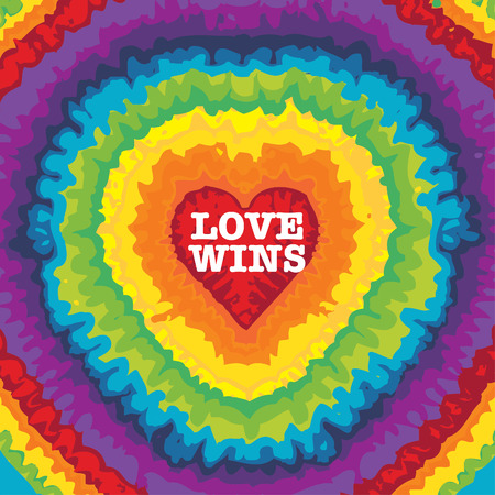 LOVE WINS  illustration Stock Illustratie