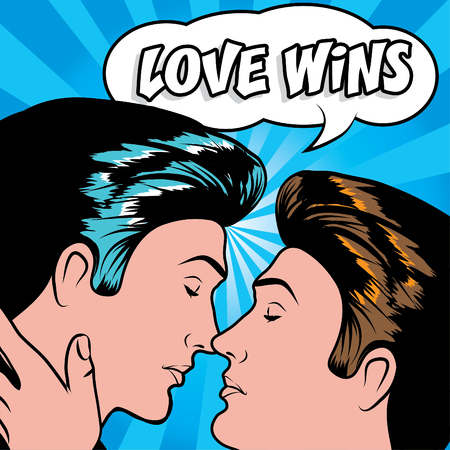 homosexual couple: marriage - Love Wins Illustration