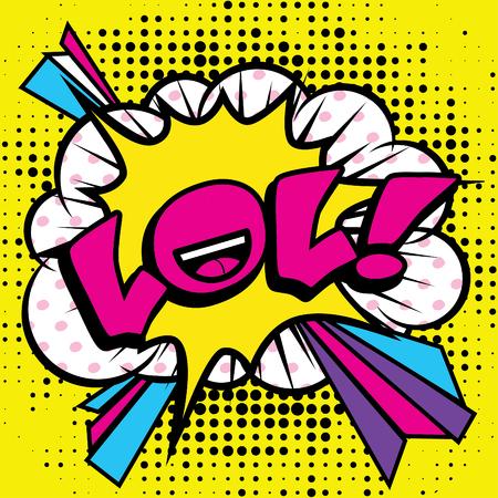 lol: Pop Art comics icon LOL Illustration
