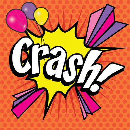 crash: Pop Art comics icon Crash!