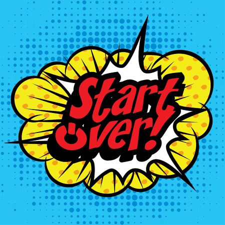 over: Pop Art comics icon Start Over!