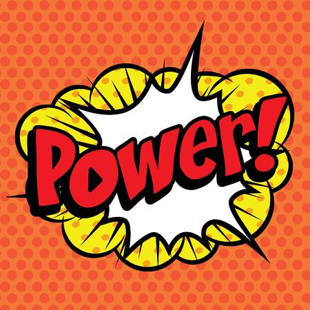 Pop Art comics icon Power! Иллюстрация