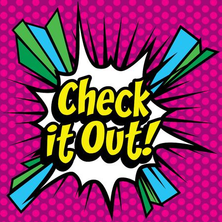 check icon: Pop Art comics icon Check It Out! Illustration