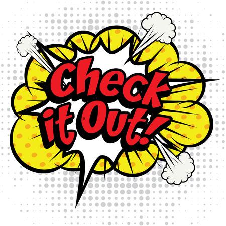 Pop-Art-Comics Symbol check it out! Standard-Bild - 52015562