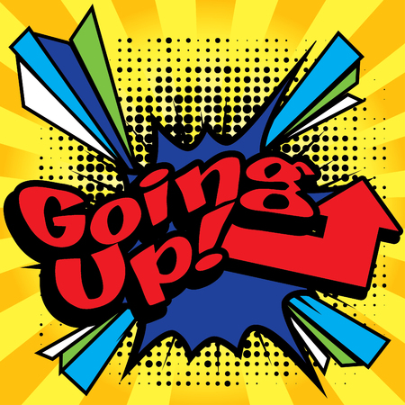 going up: Pop Art comics icon Going up! Illustration
