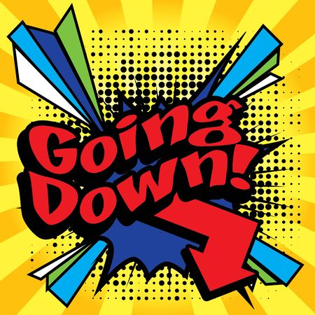 going down: Pop Art comics icon Going down!