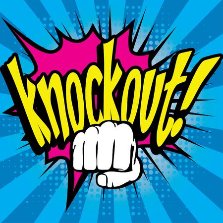 knockout: Pop Art comics icon Knockout! Illustration