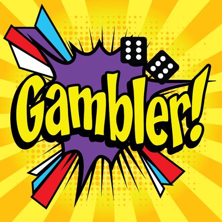 Pop Art comics icon Gambler!