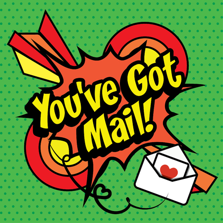 love blast: Pop Art comics icon Youve got mail! Illustration