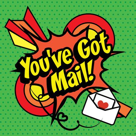 you've got mail: Pop Art comics icon Youve got mail! Illustration