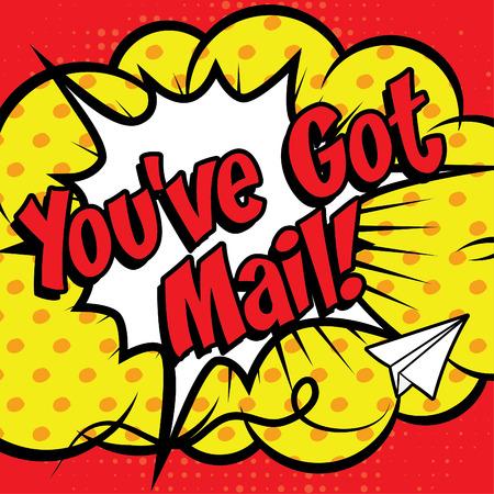 Pop Art comics icon You've got mail!  イラスト・ベクター素材