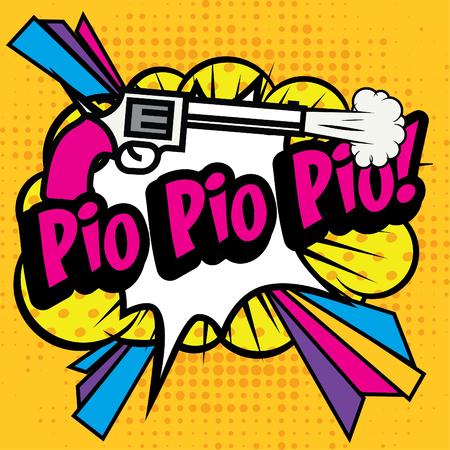 Pop Art comics icon Pio Pio Pio! Banco de Imagens - 52038965