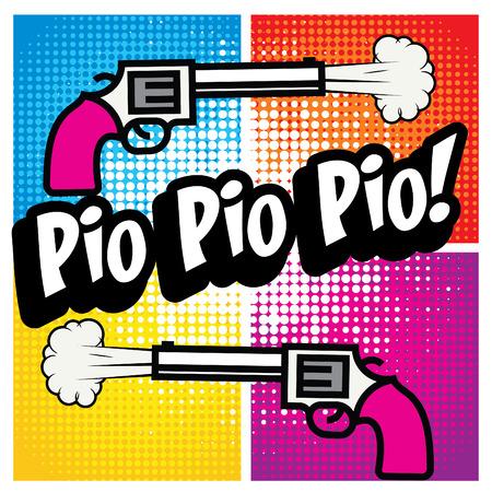 Pop Art comics icon Pio Pio Pio!