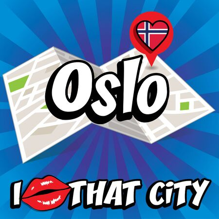 that: I Love That City with Norway flag