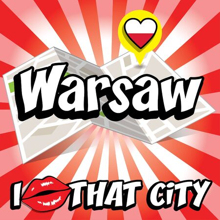 that: Pop art Warsaw and I love that city typography