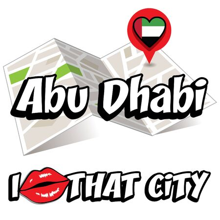 that: Pop art Abu Dhabi and I love that city typography