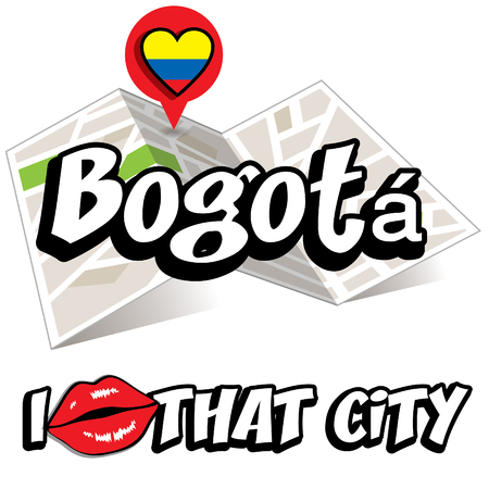 that: Pop art Bogota and I love that city typography