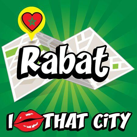 that: Pop art Rabat and I love that city typography