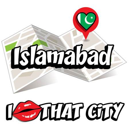 islamabad: Pop art Islamabad and I love that city typography