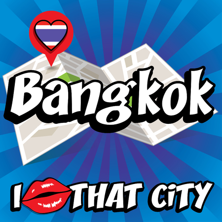 that: Pop art Bangkok and I love that city typography