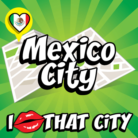 mexico city: Pop art Mexico City and I love that city typography