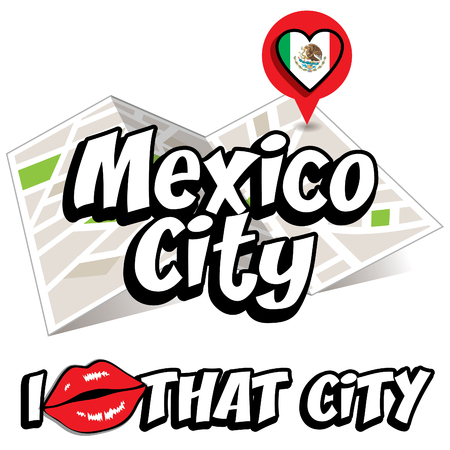 that: Pop art Mexico City and I love that city typography