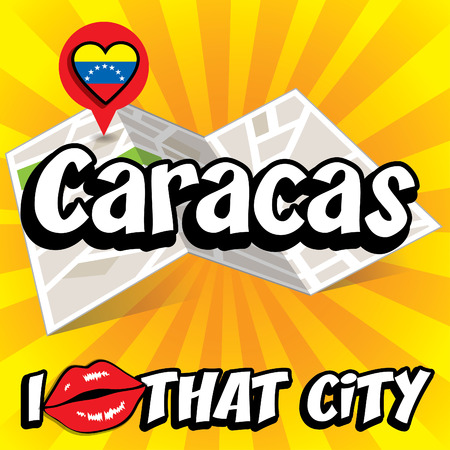 that: Pop art Caracas and I love that city typography