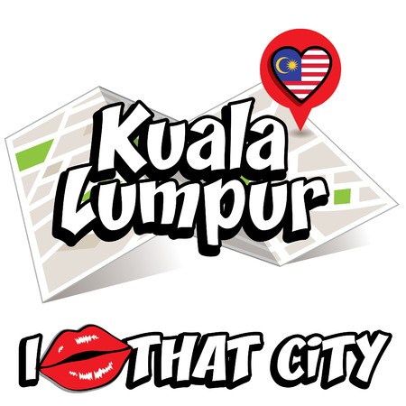 that: I Love That City with Malaysia country flag