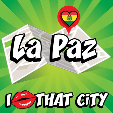 la paz: Pop art La Paz and I love that city typography