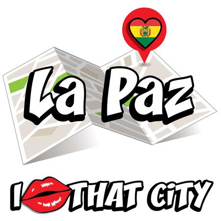that: Pop art La Paz and I love that city typography