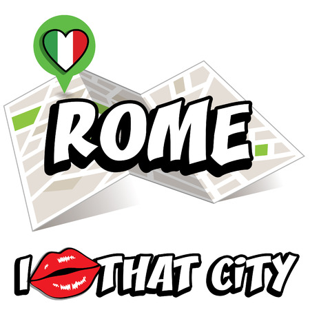 that: Pop art Rome and I love that city typography