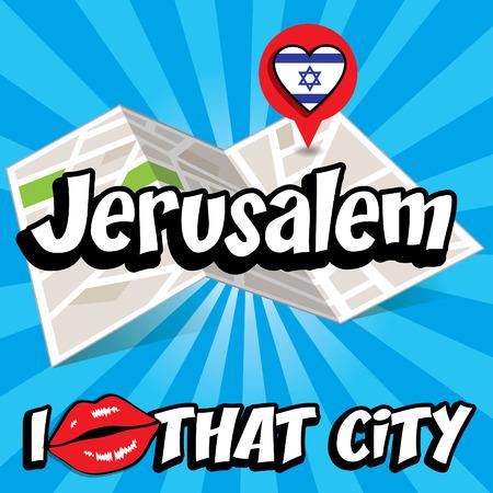 that: Pop art Jerusalem and I love that city typography