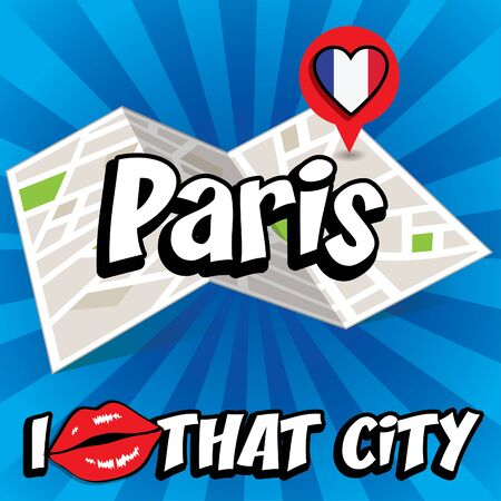 that: Pop art Paris and I love that city typography