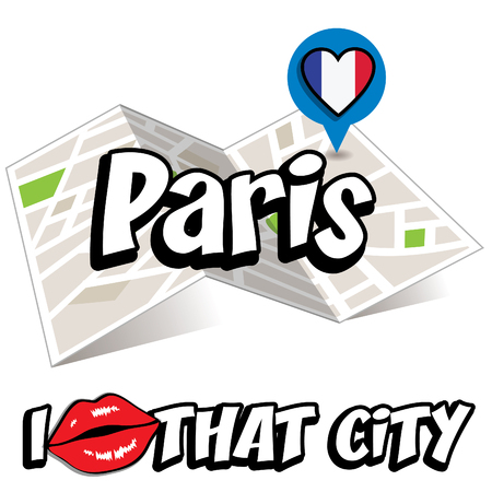 i love paris: Pop art Paris and I love that city typography