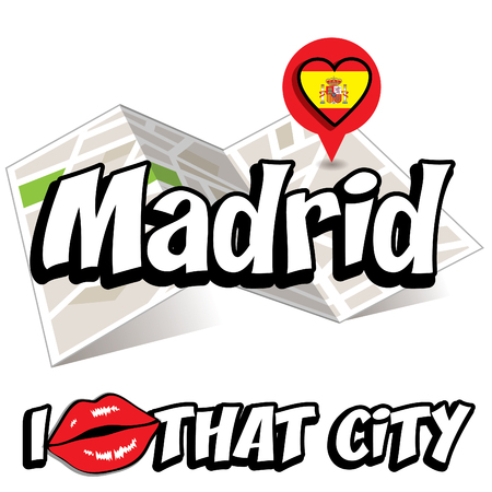 that: Pop art Madrid and I love that city typography