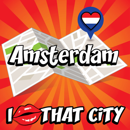 that: Pop art Amsterdam and I love that city typography